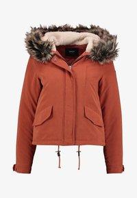 ONLY - ONLNEW SKYLAR - Zimní kabát - ginger bread - 5