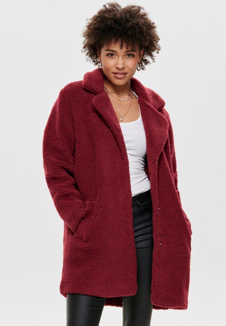 ONLY - ONLAURELIA SHERPA COAT - Winter coat - merlot
