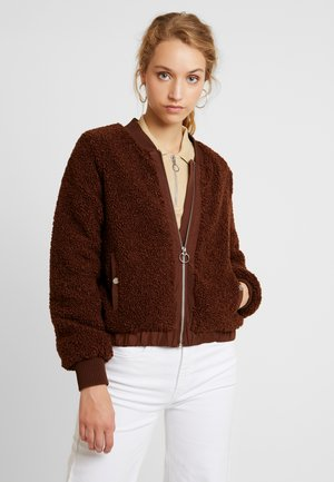 ONLINA TEDDY JACKET - Veste d'hiver - potting soil