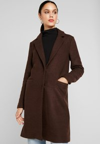 ONLY - ONLMICHELLE BONDED COAT - Manteau court - shaved chocolate/solid - 3