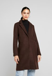 ONLY - ONLMICHELLE BONDED COAT - Manteau court - shaved chocolate/solid - 0