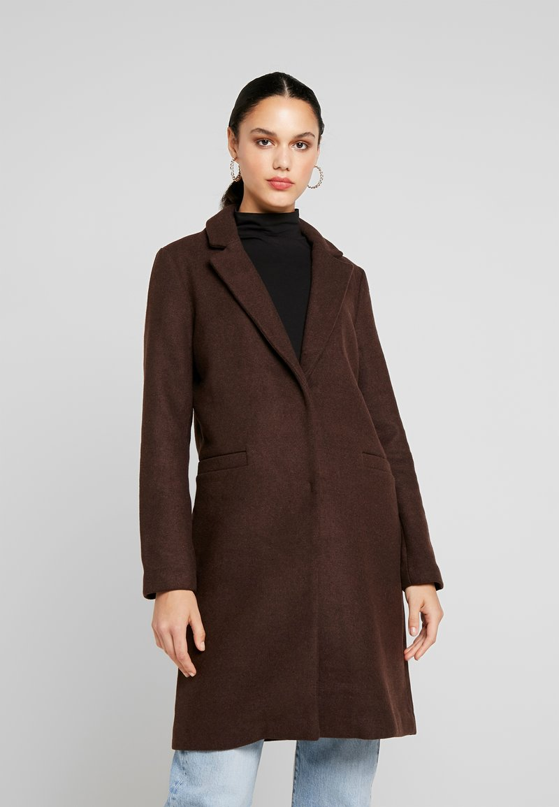 ONLY - ONLMICHELLE BONDED COAT - Manteau court - shaved chocolate/solid