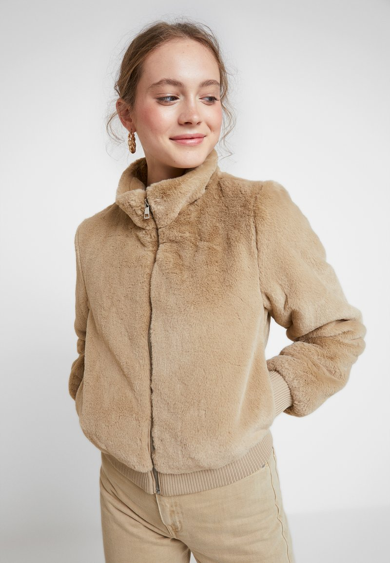ONLY - ONLAURA BOMBER  - Zimní bunda - beige