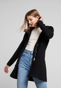 ONLY - ONLSEDONA MARIE COAT - Cappotto corto - black melange - 0
