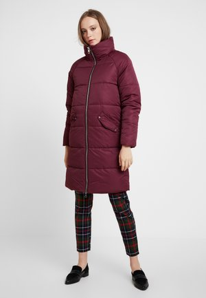 ONLJULIA QUILTED LONG COAT - Short coat - tawny port