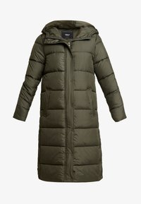 ONLY - ONLCAMMIE LONG QUILTED COAT - Vinterkåpe / -frakk - forest night - 4