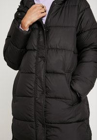 ONLY - ONLCAMMIE LONG QUILTED COAT - Winterjas - black - 6