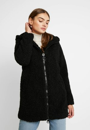 ONLTERRY CURLY HOOD COAT - Winter coat - black