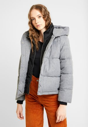 ONLVIKKI QUILTED JACKET - Giacca invernale - light grey melange