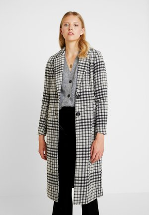 ONLROMINA CHECK COAT - Mantel - feather gray/blue graphite