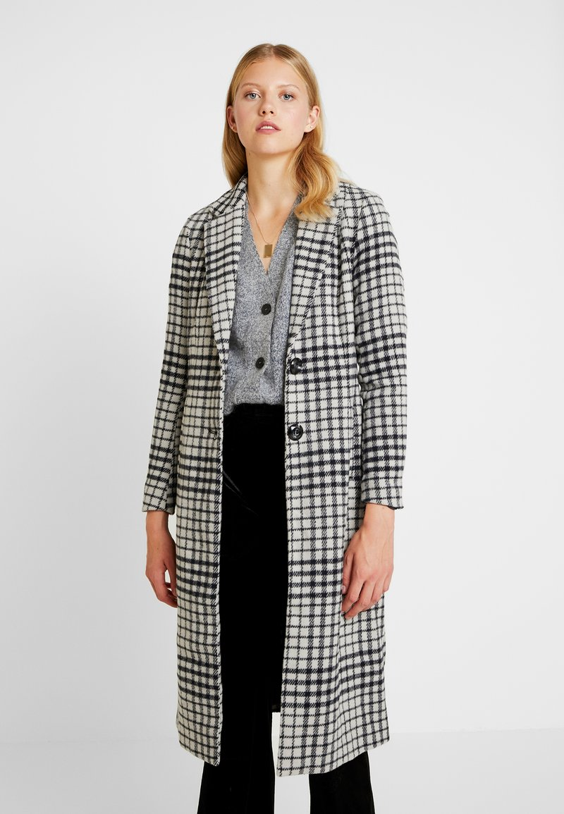 ONLY - ONLROMINA CHECK COAT - Classic coat - feather gray/blue graphite