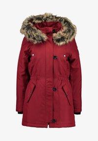 ONLY - ONLIRIS - Zimní kabát - merlot - 5