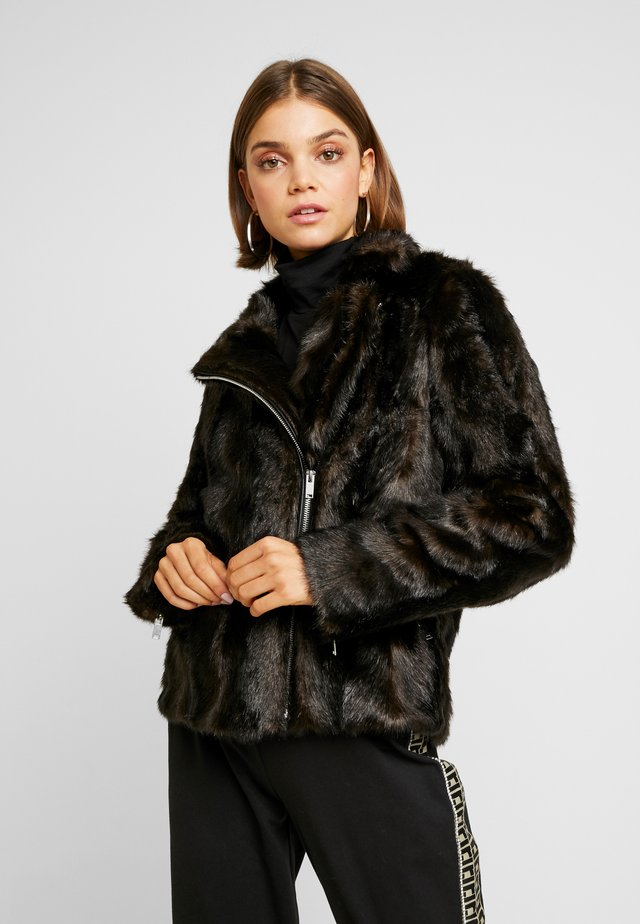 ONLMICO FUR BIKER - Giacca invernale - black coffee