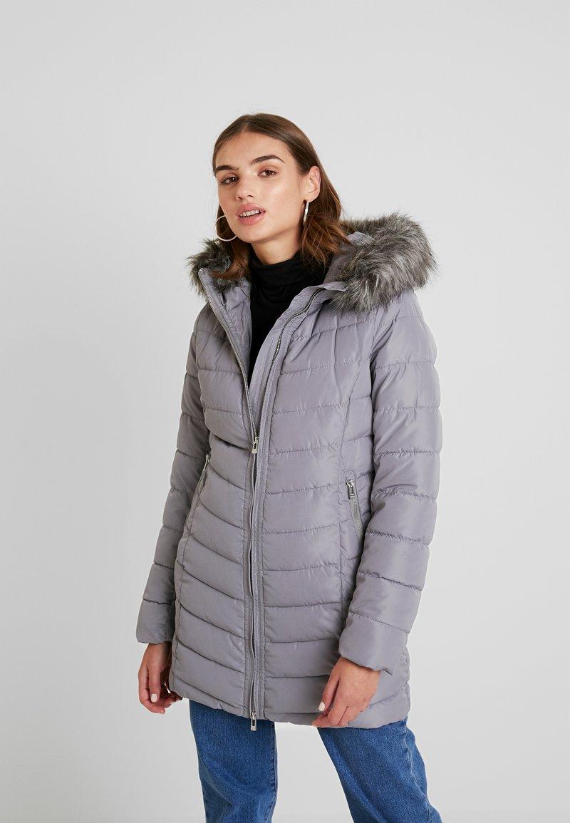 ONLY - ONLELLAN QUILTED HOOD - Krátký kabát - silver filigree