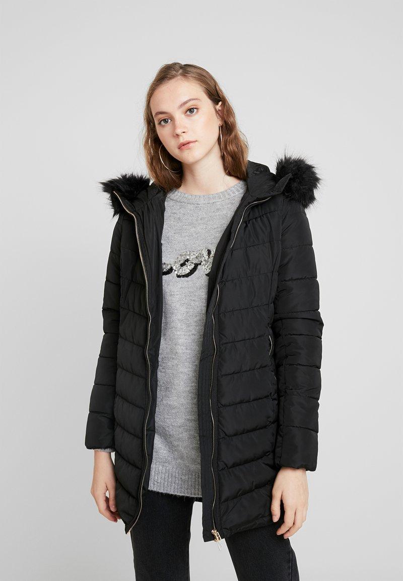 ONLY - ONLELLAN QUILTED HOOD - Krátký kabát - black