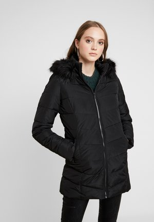 ONLMINEA QUILTED HOOD - Cappotto invernale - black