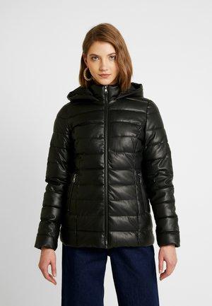 ONLTINA PADDED JACKET - Faux leather jacket - black