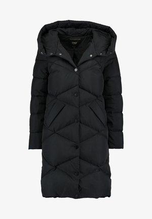 ONLCANDY COAT - Kabát zprachového peří - black