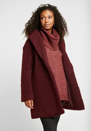 ONLALMA TEDDY COAT - Halflange jas - windsor wine