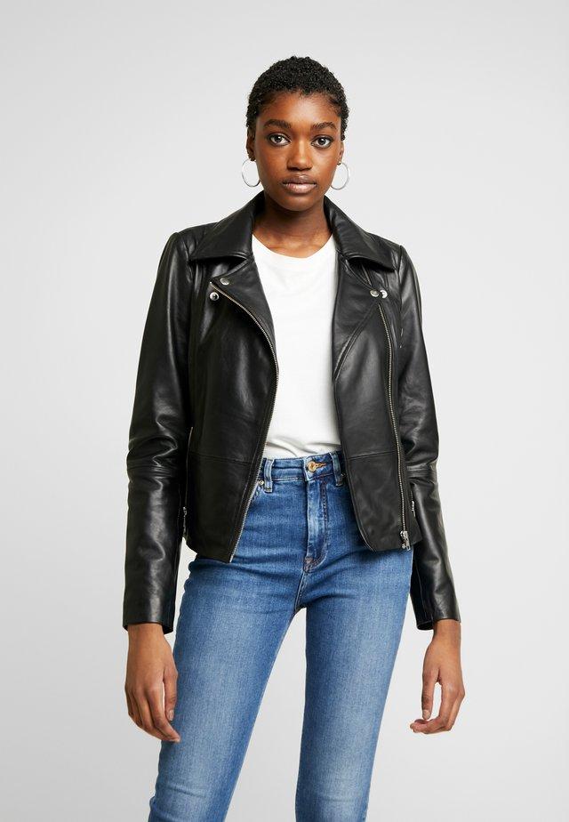 ONLLENA BIKER - Leather jacket - black