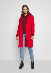 ONLY - ONLAMINA COAT - Classic coat - fiery red - 1
