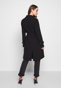 ONLY - ONLUNNA DRAPY COAT - Trenchcoat - black - 2