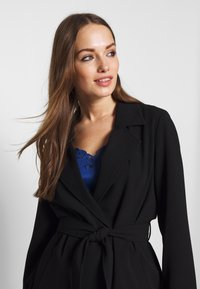 ONLY - ONLUNNA DRAPY COAT - Trenchcoat - black - 3