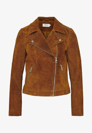ONLRILEY  - Leather jacket - argan oil
