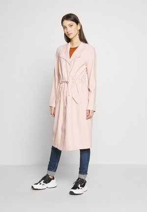ONLSILLE DRAPY LONG COAT - Manteau classique - misty rose