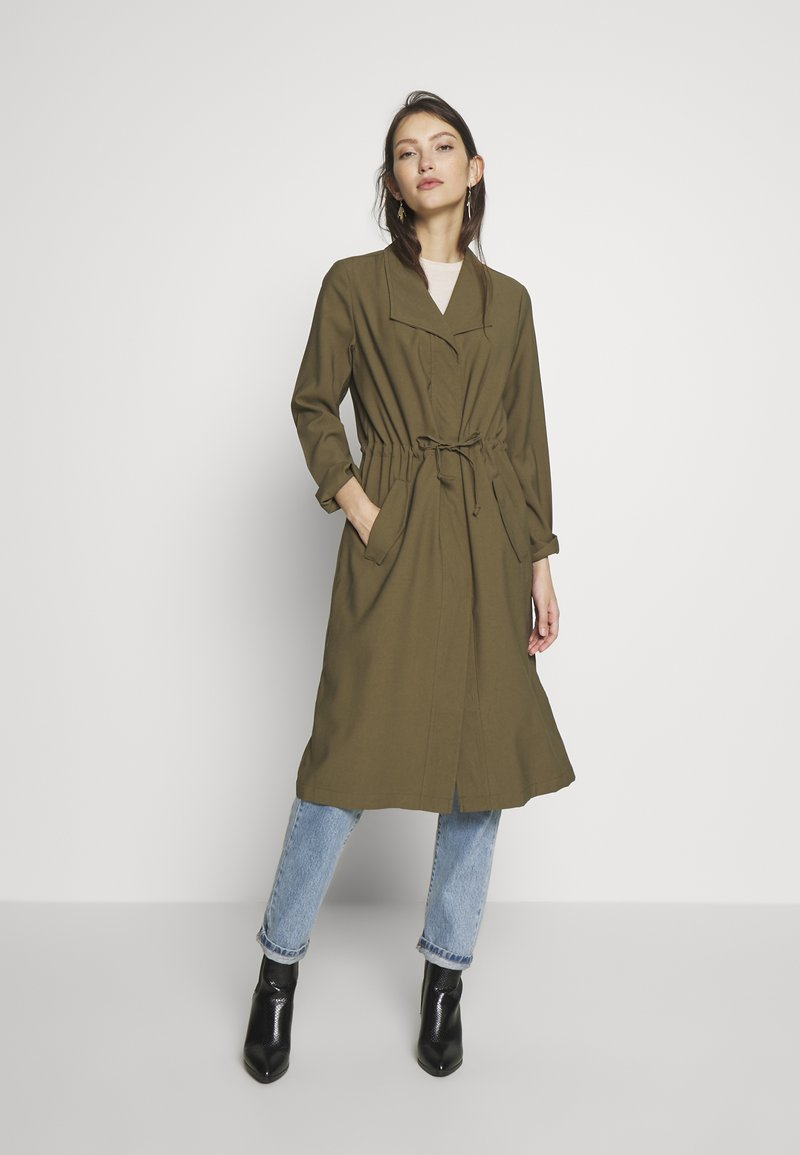 ONLY - ONLSILLE DRAPY LONG COAT - Manteau classique - kalamata