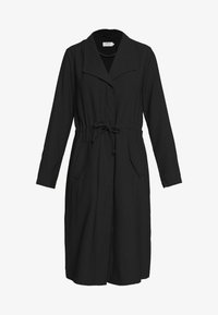 ONLY - ONLSILLE DRAPY LONG COAT - Kappa / rock - black - 4