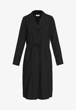 ONLSILLE DRAPY LONG COAT - Classic coat - black
