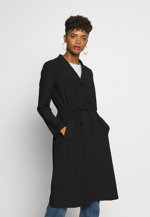 ONLSILLE DRAPY LONG COAT - Mantel - black