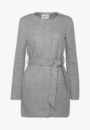 ONLSEOUL LIGHT COAT  - Kort kåpe / frakk - light grey melange