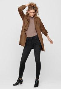 ONLY - Halflange jas - brown - 1
