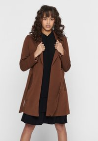 ONLY - MANTEL GESTREIFTER, DRAPIERTER - Trench - toffee - 0