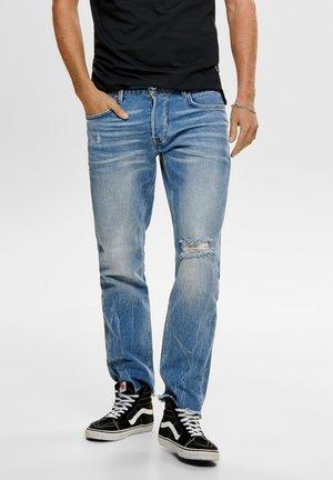 ONMGREG - Vaqueros slim fit - light blue denim