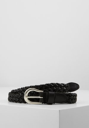 ONLHANNA BRAIDED JEANS BELT - Belte - black/silver