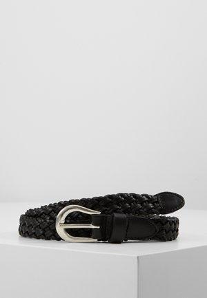ONLHANNA BRAIDED JEANS BELT - Belte - black/silver