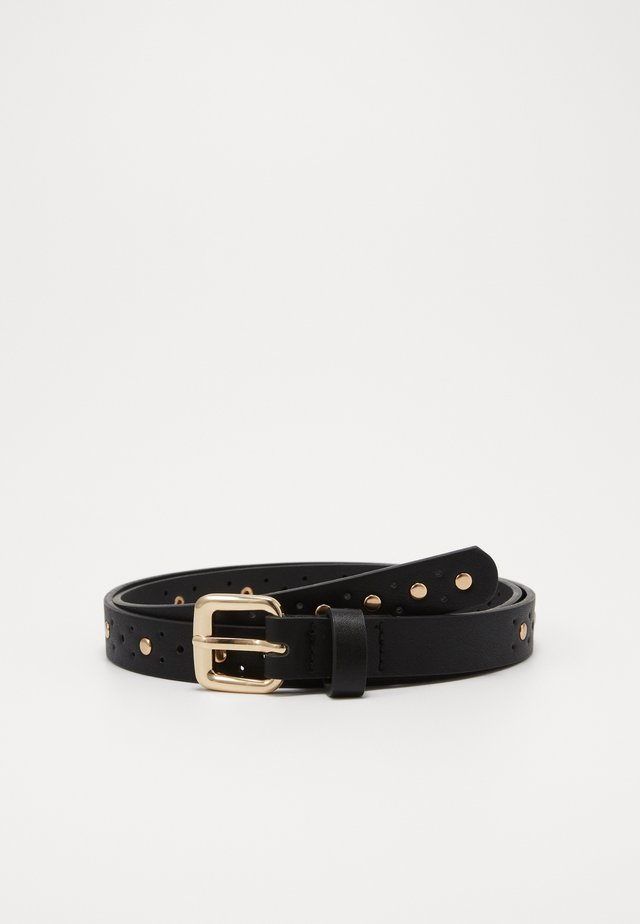 ONLALBA NIT JEANS BELT - Belt - black/gold-coloured