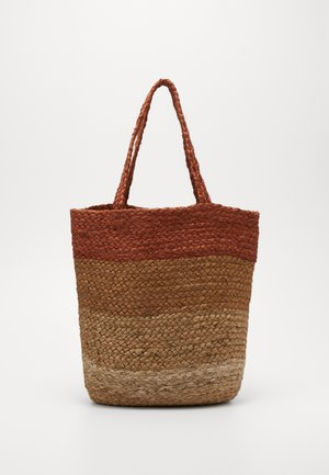 ONLMAJA STRIPED BAG - Tote bag - natural/striped natural