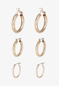 ONLY - ONLTILLA 3 PACK CREOL EARRINGS  - Ohrringe - gold-coloured - 3