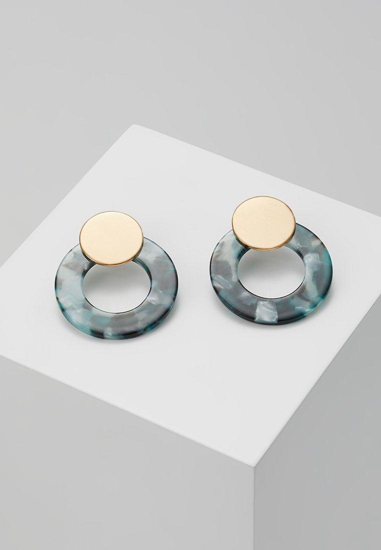 ONLY - ONLZANKA ROUND EARRINGS  - Oorbellen - gold-coloured/green