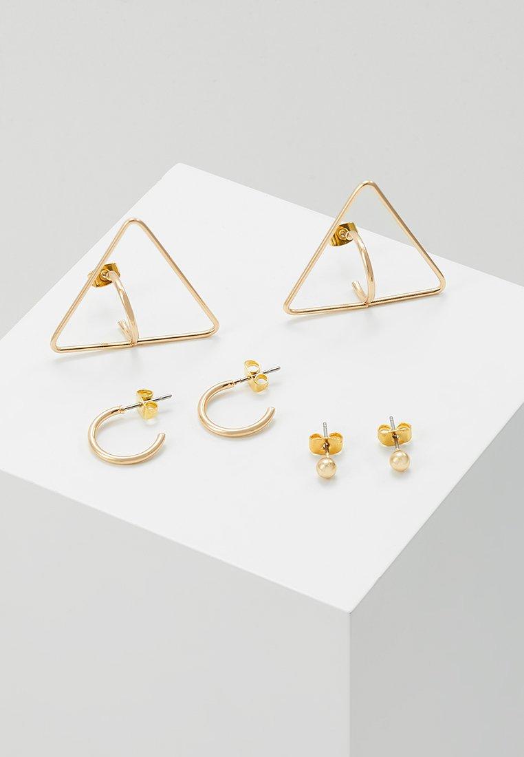 ONLY - ONLSILVIA EARRING 3 PACK - Örhänge - gold-coloured