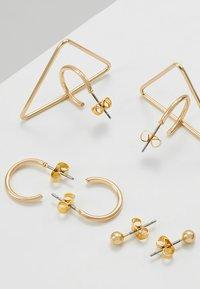 ONLY - ONLSILVIA EARRING 3 PACK - Örhänge - gold-coloured - 2