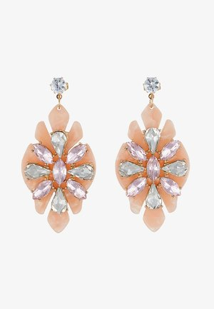 Earrings - misty rose