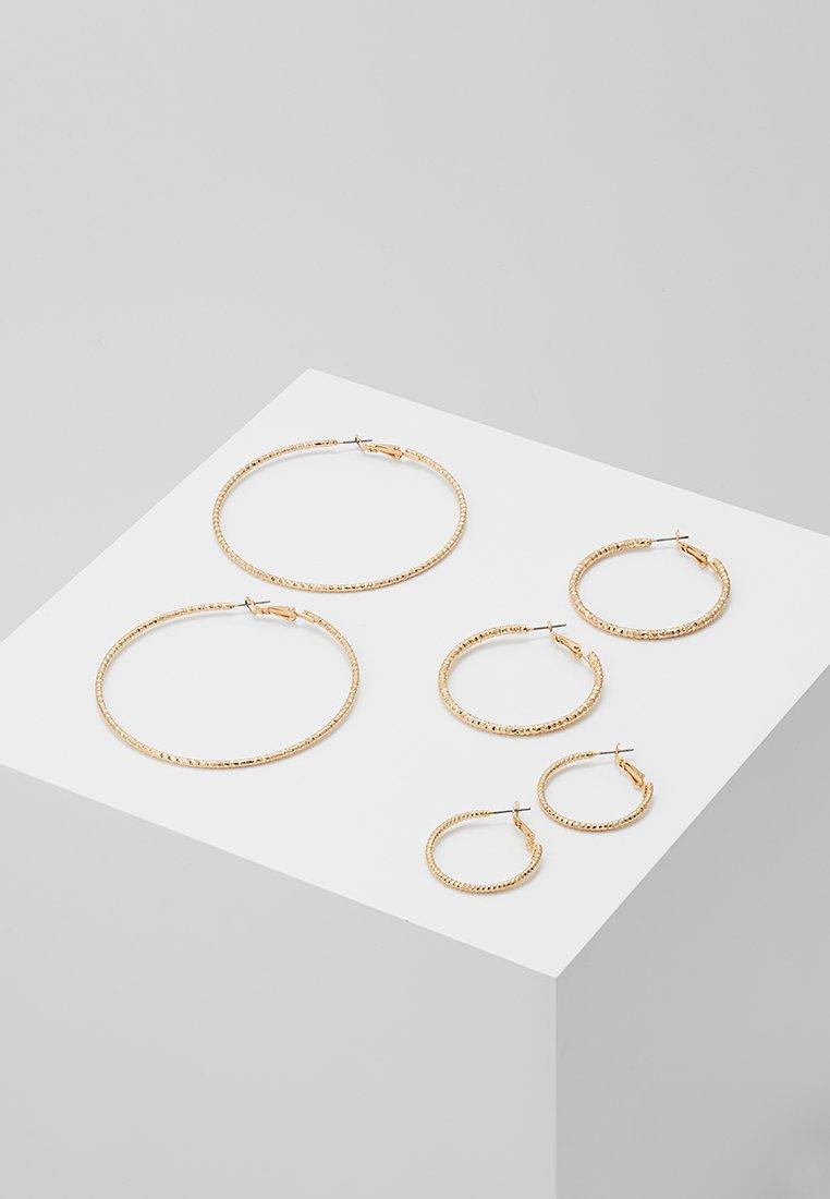 ONLY - ONLHELLE 3 PACK CREOL EARRINGS - Náušnice - gold-coloured