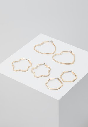 ONLSANNA 3 PACK CREOL EARRINGS - Oorbellen - gold-coloured