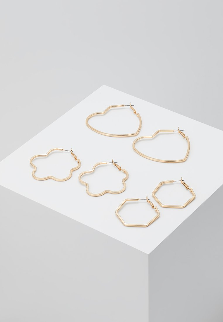 ONLY - ONLSANNA 3 PACK CREOL EARRINGS - Earrings - gold-coloured