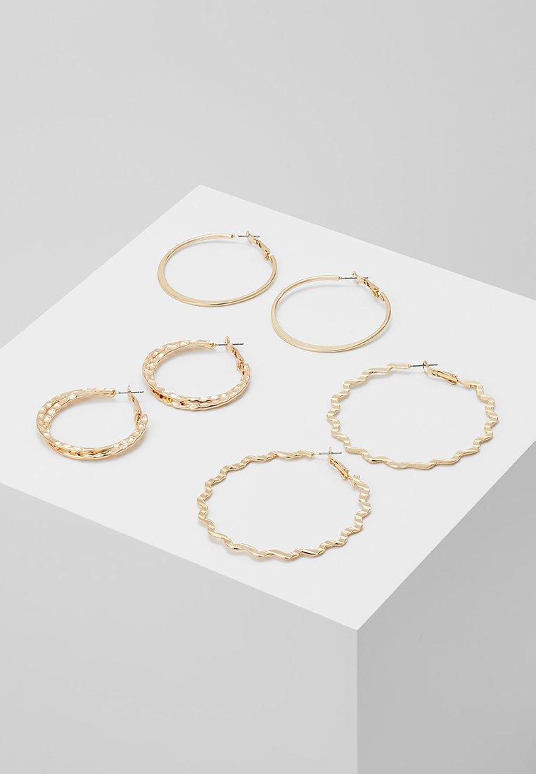 ONLY - ONLPANDA 3 PACK CREOL EARRINGS - Earrings - gold-coloured